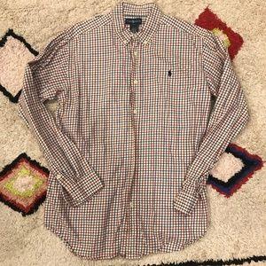 RL Long Sleeve Flannel Plaid Button Down Shirt XL